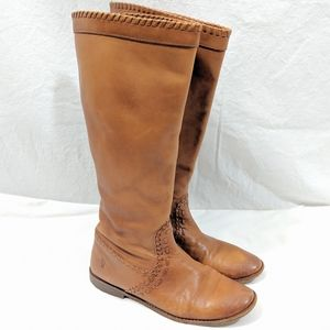 Frye Paige Haracha Cognac Pull on Boots